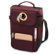 "Picnic Time® NFL Licensed Duet ""Washington Redskins"" Digital Print Wine Picnic Tote, Burgundy"