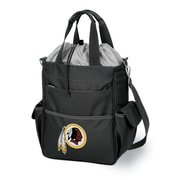 "Picnic Time® NFL Licensed Activo ""Washington Redskins"" Digital Print Polyester Cooler Tote, Black"
