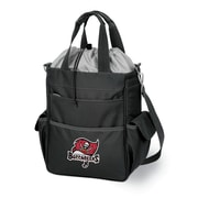 "Picnic Time® NFL Licensed Activo ""Tampa Bay Buccaneers"" Digital Print Polyester Cooler Tote, Black"