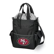 """Picnic Time® NFL Licensed Activo """"San Francisco 49Ers"""" Digital Print Polyester Cooler Tote, Black"""