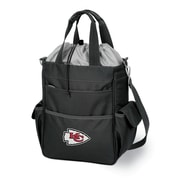 "Picnic Time® NFL Licensed Activo ""Kansas City Chiefs"" Digital Print Polyester Cooler Tote, Black"