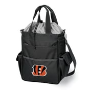 "Picnic Time® NFL Licensed Activo ""Cincinnati Bengals"" Digital Print Polyester Cooler Tote, Black"