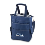 """Picnic Time® NFL Licensed Activo """"Seattle Seahawks"""" Digital Print Polyester Cooler Tote, Navy"""