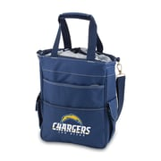 "Picnic Time® NFL Licensed Activo ""San Diego Chargers"" Digital Print Polyester Cooler Tote, Navy"