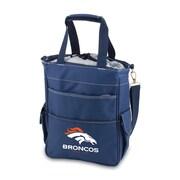 """Picnic Time® NFL Licensed Activo """"Denver Broncos"""" Digital Print Polyester Cooler Tote, Navy"""
