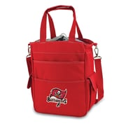 "Picnic Time® NFL Licensed Activo ""Tampa Bay Buccaneers"" Digital Print Polyester Cooler Tote, Red"