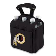 """Picnic Time® NFL Licensed Six Pack """"Washington Redskins"""" Digital Print Neoprene Cooler Tote, Black"""