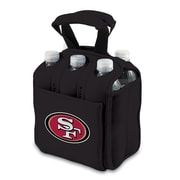Picnic Time® NFL Licensed Six Pack San Francisco 49Ers Digital Print Neoprene Cooler Tote, Black