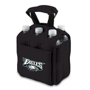 Picnic Time® NFL Licensed Six Pack Philadelphia Eagles Digital Print Neoprene Cooler Tote, Black