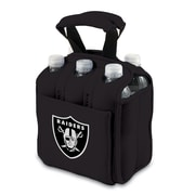 "Picnic Time® NFL Licensed Six Pack ""Oakland Raiders"" Digital Print Neoprene Cooler Tote, Black"