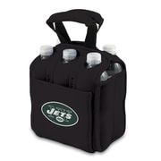Picnic Time® NFL Licensed Six Pack New York Jets Digital Print Neoprene Cooler Tote, Black
