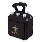 "Picnic Time® NFL Licensed Six Pack ""New Orleans Saints"" Digital Print Neoprene Cooler Tote, Black"