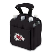 Picnic Time® NFL Licensed Six Pack Kansas City Chiefs Digital Print Neoprene Cooler Tote, Black