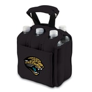 Picnic Time® NFL Licensed Six Pack Jacksonville Jaguars Digital Print Neoprene Cooler Tote, Black
