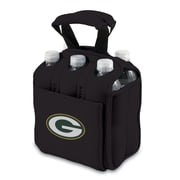 Picnic Time® NFL Licensed Six Pack Green Bay Packers Digital Print Neoprene Cooler Tote, Black