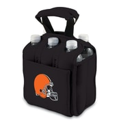 Picnic Time® NFL Licensed Six Pack Cleveland Browns Digital Print Neoprene Cooler Tote, Black
