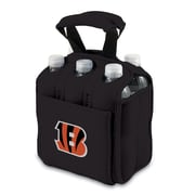 "Picnic Time® NFL Licensed Six Pack ""Cincinnati Bengals"" Digital Print Neoprene Cooler Tote, Black"