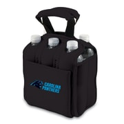 Picnic Time® NFL Licensed Six Pack Carolina Panthers Digital Print Neoprene Cooler Tote, Black