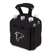 "Picnic Time® NFL Licensed Six Pack ""Atlanta Falcons"" Digital Print Neoprene Cooler Tote, Black"