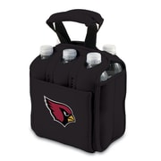Picnic Time® NFL Licensed Six Pack Arizona Cardinals Digital Print Neoprene Cooler Tote, Black