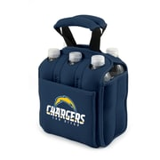 "Picnic Time® NFL Licensed Six Pack ""San Diego Chargers"" Digital Print Neoprene Cooler Tote, Navy"