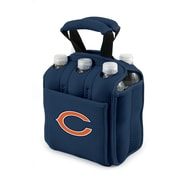 "Picnic Time® NFL Licensed Six Pack ""Chicago Bears"" Digital Print Neoprene Cooler Tote, Navy"