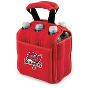 Picnic Time® NFL Licensed Six Pack Tampa Bay Buccaneers Digital Print Neoprene Cooler Tote, Red