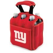 "Picnic Time® NFL Licensed Six Pack ""New York Giants"" Digital Print Neoprene Cooler Tote, Red"