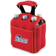 Picnic Time® NFL Licensed Six Pack New England Patriots Digital Print Neoprene Cooler Tote, Red