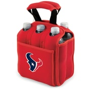 Picnic Time® NFL Licensed Six Pack Houston Texans Digital Print Neoprene Cooler Tote, Red
