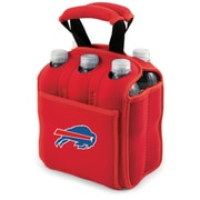 "Picnic Time® NFL Licensed Six Pack ""Buffalo Bills"" Digital Print Neoprene Cooler Tote, Red"