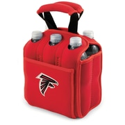 "Picnic Time® NFL Licensed Six Pack ""Atlanta Falcons"" Digital Print Neoprene Cooler Tote, Red"