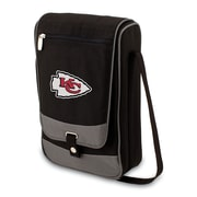 Picnic Time® NFL Licensed Barossa Kansas City Chiefs Digital Print Polyester Wine Tote, Black