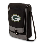 Picnic Time® NFL Licensed Barossa Green Bay Packers Digital Print Polyester Wine Tote, Black