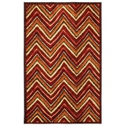 Mohawk® Zig Zag Stripe Nylon Rug, 96 x 120, Orange