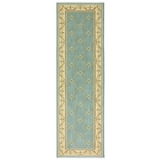 Karastan® Sierra Mar Marie Louise New Zealand Wool Rug, 2'5 x 8', Robin's Egg Blue