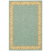 Karastan® Sierra Mar Marie Louise New Zealand Wool Rug, 5'6 x 8'3, Robin's Egg Blue