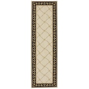 Karastan® Sierra Mar Marie Louise New Zealand Wool Rug, 2'5 x 8', Ivory/Black