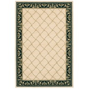 Karastan® Sierra Mar Marie Louise New Zealand Wool Rug, 5'6 x 8'3, Ivory/Black