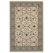 Karastan® Sierra Mar Kismet New Zealand Wool Rug, 8' x 10', Ivory/Black