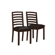 Monarch® Leather Side Chair, Walnut/Brown, 2/Set