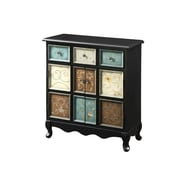 Monarch® Wood Apothecary Bombay Chest, Distressed Black/Multi Color