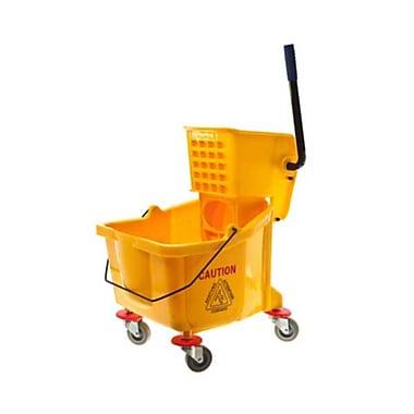 Update International MBK-9 36 qt. Polypropylene Bucket with Wringer, Yellow