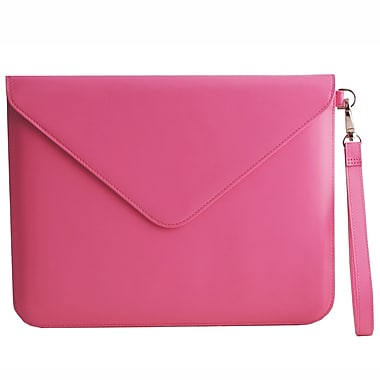 Paperthinks™ Recycled Leather Folio For iPad 2/3 and 11in. Tablets, Fuchsia