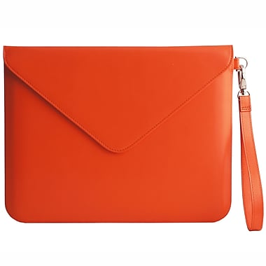Paperthinks™ Recycled Leather Folio For iPad 2/3 and 11in. Tablets, Tangerine Orange