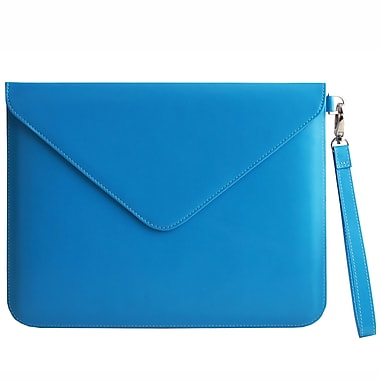 Paperthinks PT00106 Recycled Leather Folio Case for 11in. Apple iPad 2/3, Blue Mist