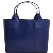 "Paperthinks™ Classic Collection 10"" x 15"" x 5"" Shopping Bag, Navy Blue"