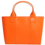 Paperthinks™ Rainbow Collection 10 x 15 x 5 Shopping Bag, Tangerine Orange