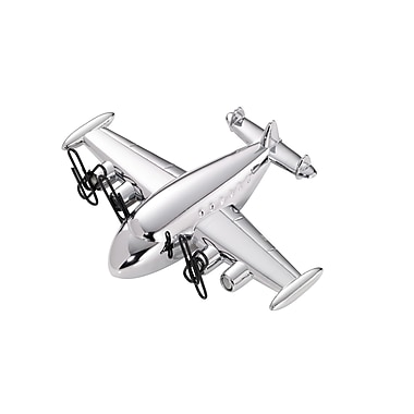 Troika® Super Connie Propeller-Driven Airliner Paperweight, Silver