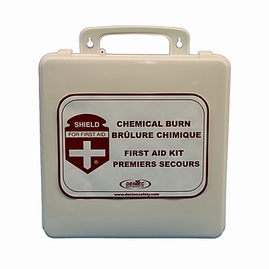 Shield Chemical Burn Care First Aid Kit, 24 Unit, Plastic Box